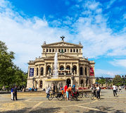 Opern-Quadrat im Frankfurten Würstchen auf Hauptleitung Lizenzfreies Stockfoto