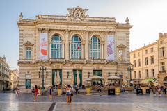 Operngebäude am Komödienplatz in Montpellier Stockfotos