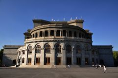 Opernhaus in Yerevan, Armenien stockbild