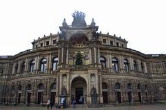 Opernhausfassade Dresden Lizenzfreies Stockbild