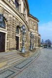 Opernhausseite Dresdens Semper stockbild
