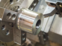 Opertor machining mold and die parts for automotive Stock Image