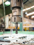Opertor machining mold and die parts for automotive Royalty Free Stock Photos