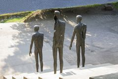 Opfer der Kommunismus-Erinnerungsgrundlage in Prag stockbilder