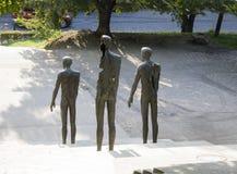 Opfer der Kommunismus-Erinnerungsgrundlage in Prag lizenzfreie stockfotografie