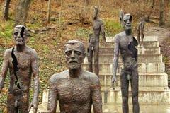 Opfer des Kommunismus-Denkmales in Prag lizenzfreies stockbild