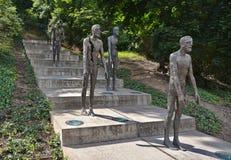 Opfer des Kommunismus-Denkmales in Prag lizenzfreie stockfotografie