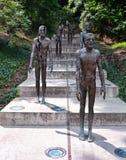 Opfer des Kommunismus-Denkmales in Prag stockfoto