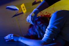 Opfer des Verbrechens lizenzfreies stockbild