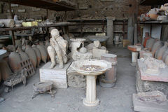 Opfer von Vesuv Stockbild