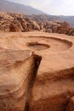 Opferplatz in altem PETRA, Jordanien Lizenzfreies Stockbild