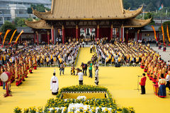 Opferzeremonie für Konfuzius Stockfoto