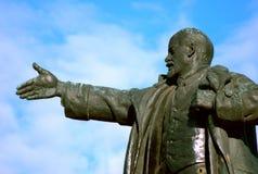 Opgeblazen - omhoog een standbeeld van Lenin bij de Post van Finland Royalty-vrije Stock Afbeelding