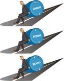 Opgeblazen prijs - vat benzine vector illustratie