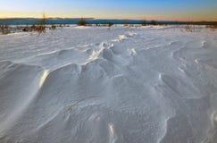 Opgeblazen Sneeuw Stock Afbeeldingen