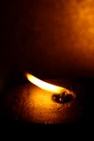 Opgeblazen vlam Stock Foto's