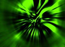 Opgeblazen windzombie daemon Illustratie in genre van verschrikking Groene Kleur vector illustratie
