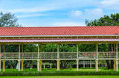 Opgeheven Airy Walkway van Mrigadayavan-Paleis, Thailand Stock Fotografie