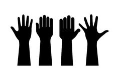 Opgeheven handen vector illustratie