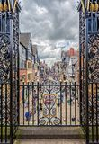 Opgeheven Ontworpen schot van Hoofdstraat, Chester, het UK stock fotografie