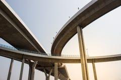 Opgeheven snelweg Stock Foto's