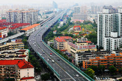 Opgeheven weg, Shanghai stock foto
