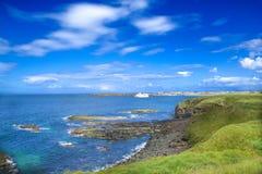 Opgeleid paard, Whiterocks, Strand, Portrush, Co Antrim, N Ierland, Stock Afbeelding