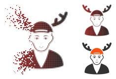 Opgelost Dot Halftone Horned Boyfriend Icon stock illustratie