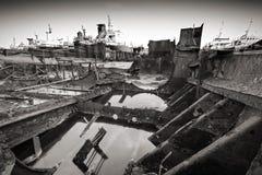 Opgelost schip Stock Fotografie
