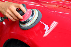 Opgepoetste auto Stock Fotografie