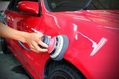 Opgepoetste rode auto Stock Fotografie