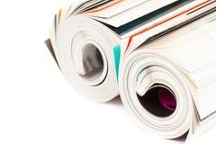Opgerold Tijdschrift Royalty-vrije Stock Afbeeldingen