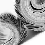 Opgerolde tijdschriften Stock Afbeeldingen