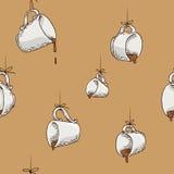 Opgeschort koffiepatroon Royalty-vrije Stock Foto's