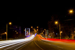 Opgeschorte weg in Craiova, Roemenië Royalty-vrije Stock Foto's