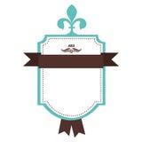 Opgesmukt embleem of etiketpictogrambeeld royalty-vrije illustratie