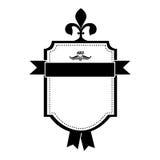 Opgesmukt embleem of etiketpictogrambeeld stock illustratie