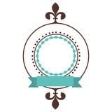 Opgesmukt embleem of etiketpictogrambeeld vector illustratie