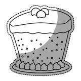 opgesmukt het pictogrambeeld van het cakegebakje stock illustratie