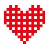 Opgesmukt het pictogrambeeld van het hartbeeldverhaal royalty-vrije illustratie
