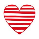 Opgesmukt het pictogrambeeld van het hartbeeldverhaal stock illustratie