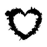 Opgesmukt het pictogrambeeld van het hartbeeldverhaal vector illustratie