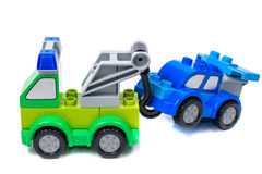 Opgesplitste auto die gesleepte 3D illustratie zijn Royalty-vrije Stock Afbeeldingen