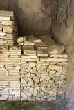 Opgestapelde antiquiteit-Herculaneum Royalty-vrije Stock Fotografie