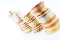Opgestapelde muntstukken stock foto