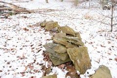 Opgestapelde rots Royalty-vrije Stock Fotografie