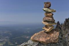 Opgestapelde Stenen Stock Fotografie