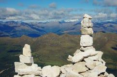 Opgestapelde stenen op de top Royalty-vrije Stock Foto's