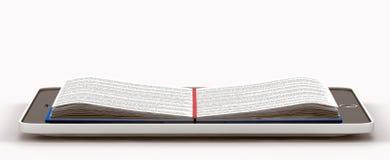 Opgesteld boek binnen de telefoon Stock Afbeelding