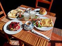 Opgestelde lunch Stock Foto's